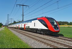 High quality photograph of SBB RABDe 502 # 502 006 at Lyssach, Switzerland. Electric Locomotive, Diesel Locomotive, Train Tracks, Train Rides, Third Rail, High Speed Rail, Rail Transport, Swiss Railways, Electric Train