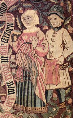 """Peasant Couple    Tapestry """"The fraudulent Mueller,""""   Basel,"""