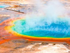 There are many attractions worth visiting within Yellowstone National Park, but the Grand Prismatic . Hawaii Volcanoes National Park, Volcano National Park, National Parks, White Sands National Monument, Smoky Mountain National Park, Palace Of Gold, Us Road Trip, World Photography, Beautiful Places To Travel