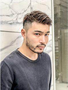 Asian Man Haircut, Asian Men Hairstyle, Short Hair Cuts, Short Hair Styles, Straight Eyebrows, Light Blue Eyes, Man Photo, Gentleman Style, Haircuts For Men