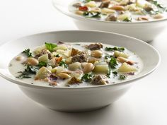 Healthified Italian Sausage Soup-Like Olive Garden Zuppa Toscano!