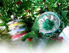 Vintage Christmas Balls Tree Ornaments Lantern by MrFilthyRotten, $9.00