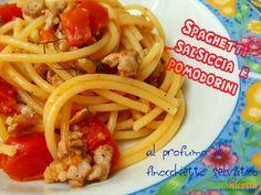 Pasta con salsiccia pomodorini e finocchietto  #ricette #food #recipes