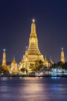 Wat Arun, Bangkok, Thailand Why Wait? Call #C.Fluker 866-680-3211 #travel #whywaittravels