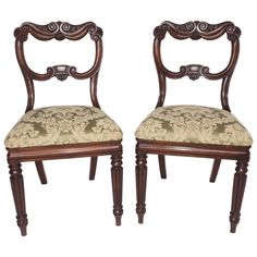 Pair of George IV Mahogany Chairs