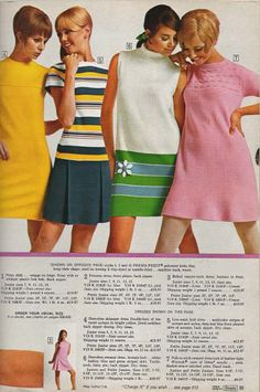 Sears, model Colleen Corby is mod-abulous (white and green dress)