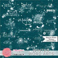 January {Word Arts} | NBK Design
