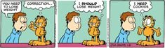 garfield, weight loss, funny, cookies