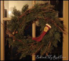 wreath w/ stocking