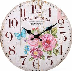 Check out this item in my Etsy shop https://www.etsy.com/listing/225180879/ville-de-paris-wall-clock