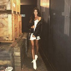 "115.8k Likes, 1,541 Comments - Eleanor Calder (@eleanorj92) on Instagram: ""Tonight @tommyhilfiger #TOMMYNOW show (wearing vintage Tommy dress & #tommyxgigi leather)"""