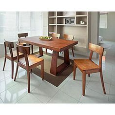 @Overstock.com - Emily New Oak 7-piece Dining Set - Contemporary style and durable construction highlight this Emily dining set. This dining furniture features a new oak finish.  http://www.overstock.com/Home-Garden/Emily-New-Oak-7-piece-Dining-Set/5528400/product.html?CID=214117 $1,169.99