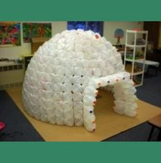 Igloos are cool. You can easily build an milk jug igloo in your classroom with some planning, lots of milk jugs and hot glue. For example, the... , wondderful