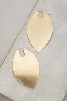 Brass Leaf Duo Hoops