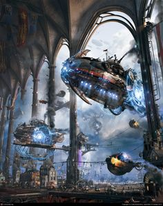 Her Majesty's Zeppelins by Gleb Alexandrov | 3D | CGSociety