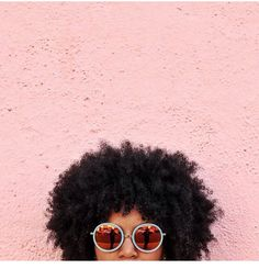 @twomacks wearing @kreweduoptic glasses || Her crown. The Afro.