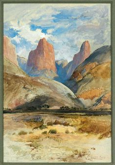 thomas moran watercolor | thomas moran watercolor credit painters of utah s canyons and deserts ...