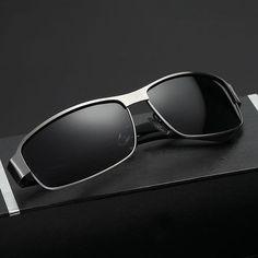 1f4676e554a FuzWeb LUFF New Men s Polarized Sunglasses Metal Glasses Frame er Classic  Driving Sportsman Sunglasses SN8458