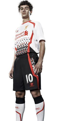 LFC stars model new away kit - Liverpool FC - Coutinho Ynwa Liverpool, Liverpool Football Club, Best Football Team, Football Players, Premier League, Pitch, Blood, Creativity, Soccer