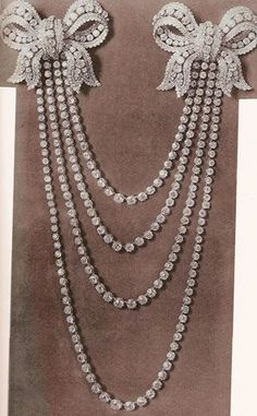 The diamond necklace, part of the French crown ...
