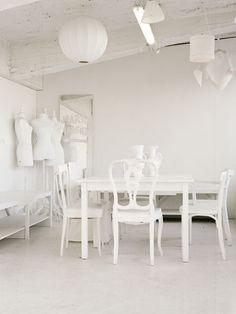 love the stark white dressmakers dummies