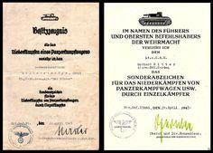 Award documents