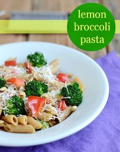 This one-dish Lemon Broccoli Pasta recipe is easy to make in less than 30 minutes. It's a healthy, delicious, kid-friendly dinner that adults love too. View the recipe details! Pasta Recipes, Real Food Recipes, Vegetarian Recipes, Dinner Recipes, Cooking Recipes, Healthy Recipes, Veg Recipes, Clean Eating Diet, Clean Eating Recipes