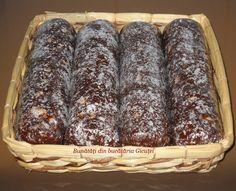 Salam de biscuiti cu sirop de zahar ars (de post) - Bunătăți din bucătăria Gicuței Homemade Cakes, Biscuit, Banana Bread, Sausage, Desserts, Recipes, Food, Roman, Pies