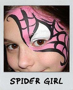 Cute girly spider..er...spidergirl :) #FacePaintingBusiness