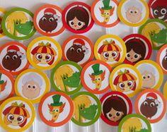 Topper Doces/cupcakes Sítio do Pica Pau