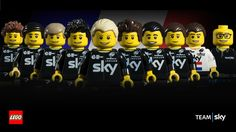 LEGO recreate Tour de France team