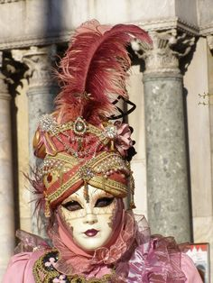 Part one of a lovely threesome.  Venice Carnival 2014 by Lesley McGibbon