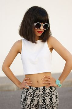 Anything else, Retro Indie Hipster Fashion Round Pattern Sunglasses 8688