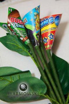 scratcher lottery toss bouquet