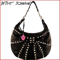 Nwt Betsey Johnson Black Leather Bows And Arrows Hobo Shoulder Bag W Receipt I Want This Sooo Bad