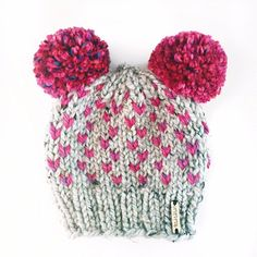 Each Nickichicki pom-pom beanie is a hat knit with the color combination YOU choose! Perfect for keeping baby, kid and lovely lady noggins warm all fall and winter long!