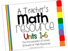 Tunstall's Teaching Tidbits: A Teacher's Math Resource Units 1-6 Complete!