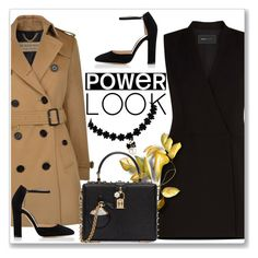 """My Power Look"" by andrejae ❤ liked on Polyvore featuring BCBGMAXAZRIA, Burberry, Gianvito Rossi, Dolce&Gabbana and powerlook"