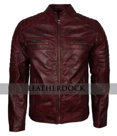 Cruise Brown Men/'s Vintage Retro Real Waxed Sheep Nappa Fashion Leather Jacket