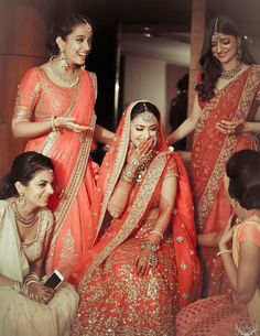 Beautiful Coral Wedding Lehenga! #lehenga #bridal #indian #punjabi #indianbride…