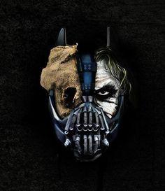 Batman, Bane, Joker and Scarecrow.
