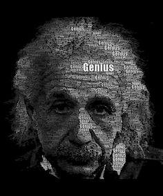 Jeff Clark a créé le visage d'Einstein uniquement en écrivant le mot Genius