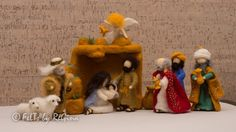 Needle felted Waldorf inspired Nativity set by THEFELTED on Etsy