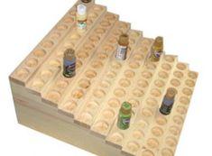 Exhibición de madera estante para botellas de pintura por woodbitz
