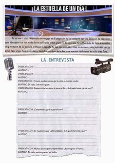 CLASE DE ESPAÑOL : TF : la estrella de un dia Spanish Grammar, Spanish Class, Learning Spanish, Spanish Conversation, Spanish Activities, How To Speak Spanish, Teaching Tools, France, Vocabulary