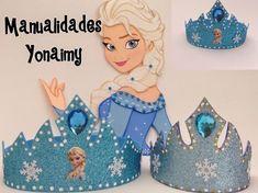 MANUALIDADES YONAIMY: CORONAS DE FOAMY O GOMA EVA DE LA PRINCESA EL... #gomaevamanualidades Elsa Birthday Party, Disney Frozen Birthday, Frozen Theme, 4th Birthday Parties, Frozen Party, Girl Birthday, Elsa Frozen, Frozen Princess, Disney Princess