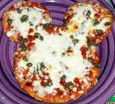 Mickey Mouse pizza - Click image to find more Weddings Pinterest pins