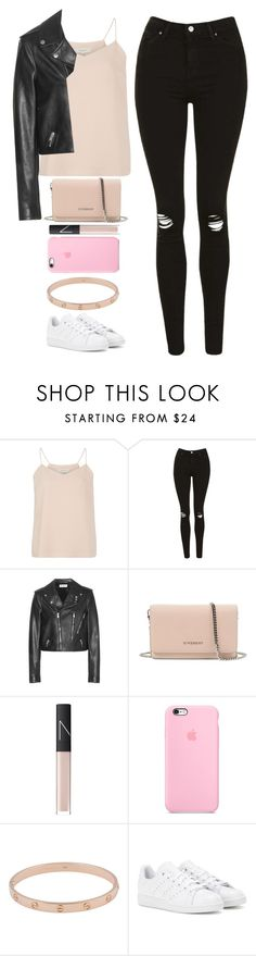 """""""Untitled #295"""" by barijeziberi ❤ liked on Polyvore featuring SELECTED, Topshop, Yves Saint Laurent, Givenchy, NARS Cosmetics, Cartier and adidas"""