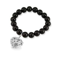 Onyx and Silver Perfumed Bracelet Passion Silver Candles With Rings Inside, Fragrant Jewels Candles, Passion Perfume, Jewelry Candles, Discount Jewelry, Amethyst, Fashion Jewelry, Beaded Bracelets
