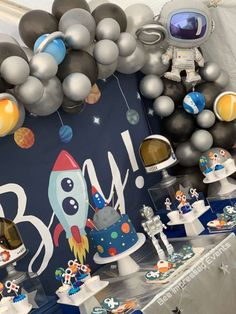 """Outerspace Babyshower """"Waiting for your Space Ship to Land"""" Baby Shower Party Ideas Shower Party, Baby Shower Parties, Baby Shower Themes, Baby Shower Decorations, Girls Birthday Party Themes, 2nd Birthday, Birthday Ideas, Space Baby Shower, Baby Boy Shower"""